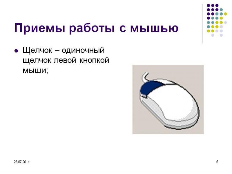 Знакомство С Компьютерной Мышью